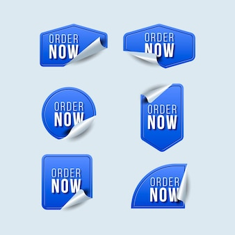 Zamów teraz niebieskie etykiety