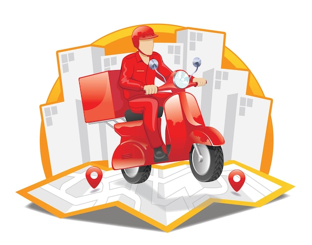 Zamówienie dostawy motoroweru na zakupy