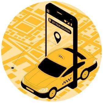 Zamówienie samochodu taksówki online