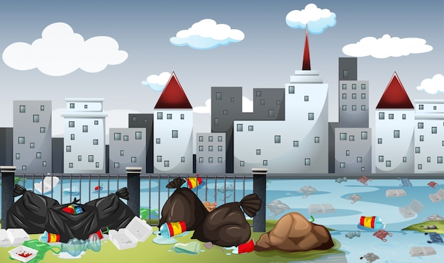 Zanieczyszczenia w dużym mieście