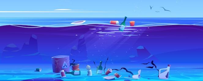 Zanieczyszczenie oceanu plastikowymi śmieciami i odpadami