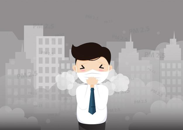 Zanieczyszczenie powietrza pm2.5 koncepcja.