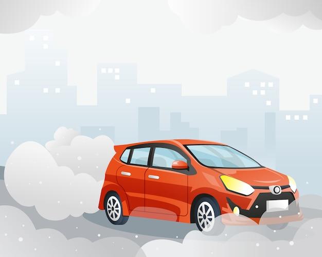 Zanieczyszczenie powietrza przez samochód