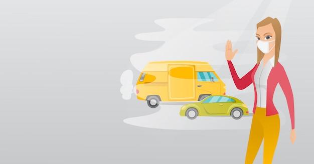 Zanieczyszczenie powietrza ze spalin samochodowych.