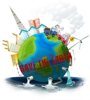 Zanieczyszczona ziemia