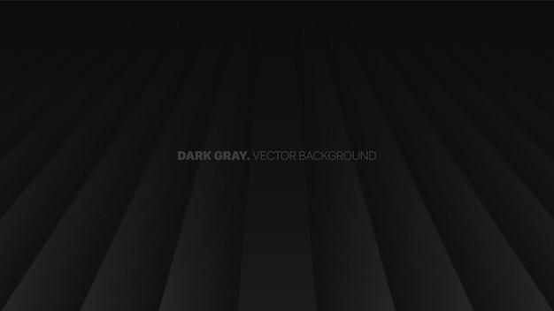 Zanikająca perspektywa gładkie linie proste 3d niewyraźny efekt ciemnoszare tło abstrakcyjne