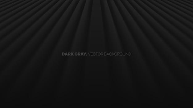 Zanikające linie proste w perspektywie w rzędzie 3d niewyraźny efekt ciemnoszare tło abstrakcyjne