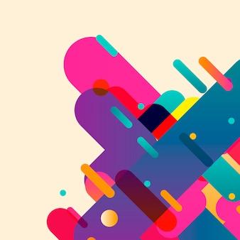 Zaokrąglone abstrakcyjne kształty kolorowe tło