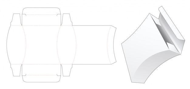 Zaokrąglony kwadratowy szablon wykrojnika