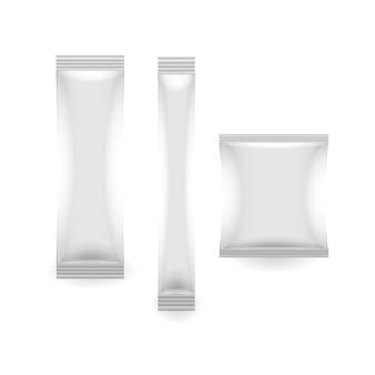 Zapakuj plastikową saszetkę papierową w opakowaniu
