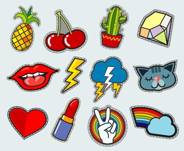 Zapasowe odznaki z kreskówek