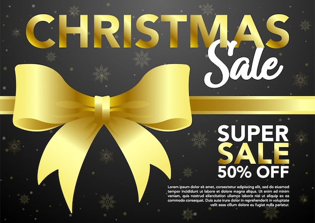 Zapasy świątecznej sprzedaży na czarnym tle.