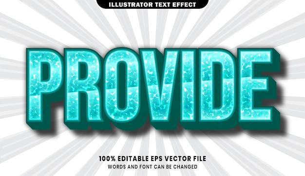 Zapewnij efekt edytowalnego stylu tekstu 3d