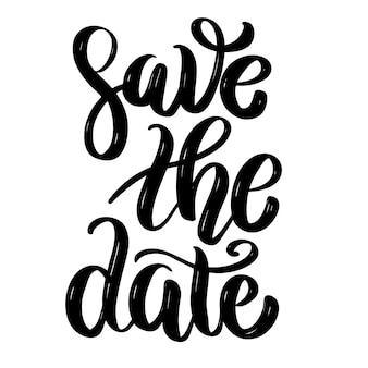Zapisz datę. ręcznie rysowane cytat napis motywacji. element na plakat, baner, kartkę z życzeniami. ilustracja
