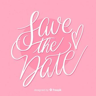 Zapisz datę różowe tło