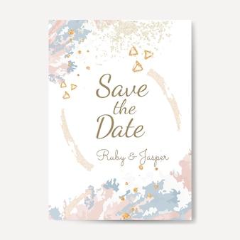 Zapisz datę ślubu wektor zaproszenie