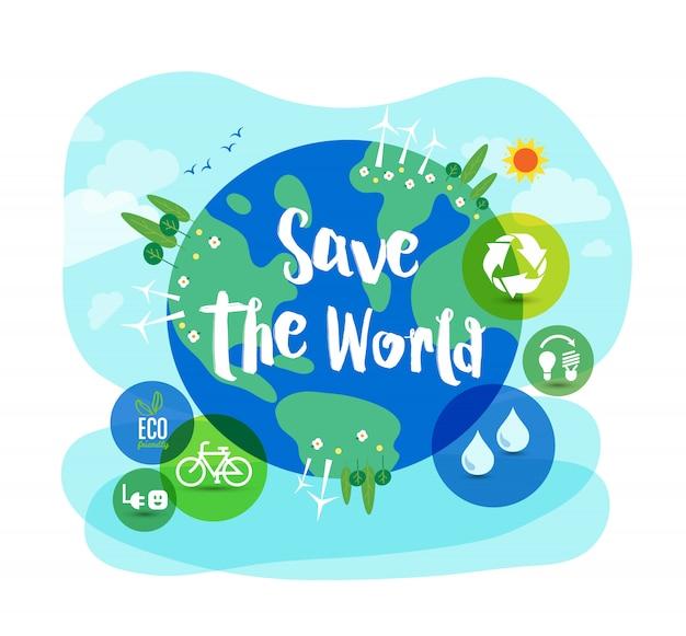 Zapisz ilustrację koncepcji zrównoważonego rozwoju na świecie