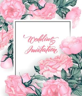 Zapisz karty daty z różami może być używany do zaproszenia na ślub karta urodzinowa karta z zaproszeniem