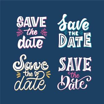 Zapisz kolekcję liter daty