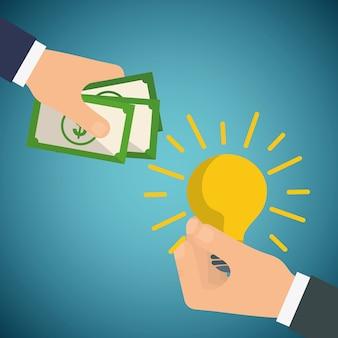 Zapisz pieniądze koncepcja z ikona designu
