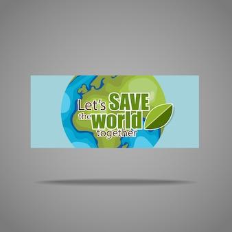 Zapisz światowy dzień na szarym tle