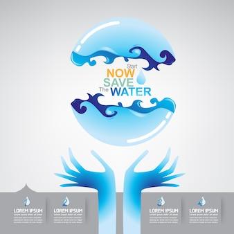Zapisz wektor koncepcja wody