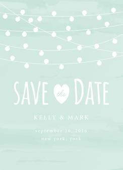 Zapisz zaproszenie na randkę za pomocą karty świetlnej zapisz kartę szablonu daty
