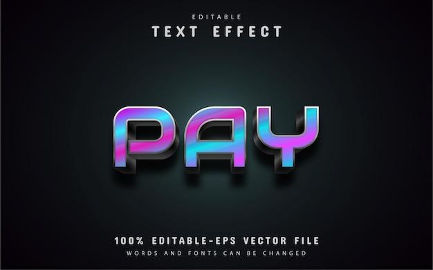 Zapłać za efekty tekstowe