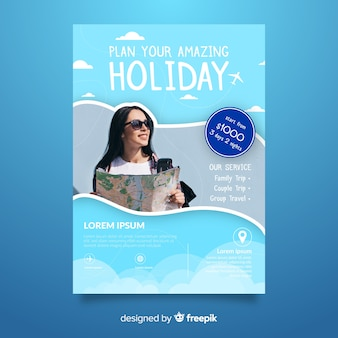 Zaplanuj plakat podróży wakacyjnej