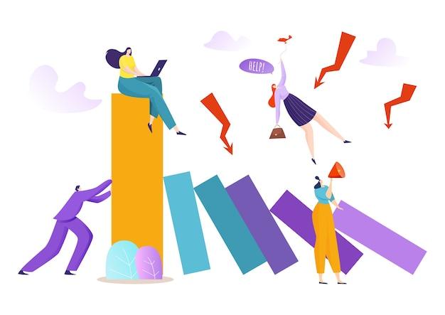 Zapobiegać rozwiązywaniu i upadłości ilustracji push