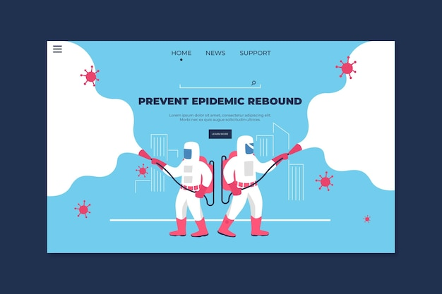 Zapobiegaj nawrotowi epidemii szablonu strony docelowej