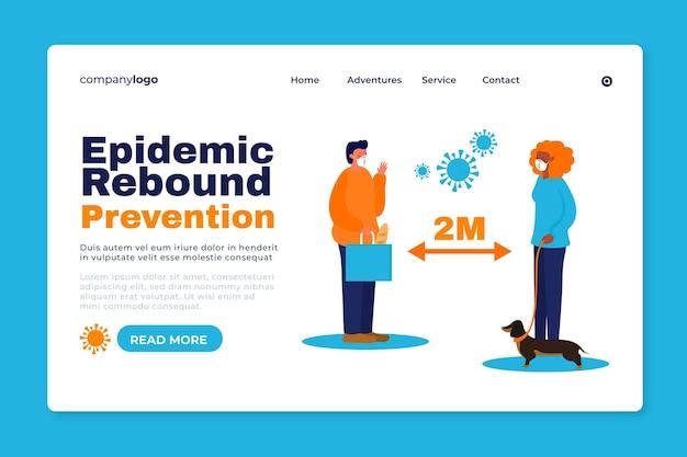 Zapobiegaj odbiciu epidemii - strona docelowa