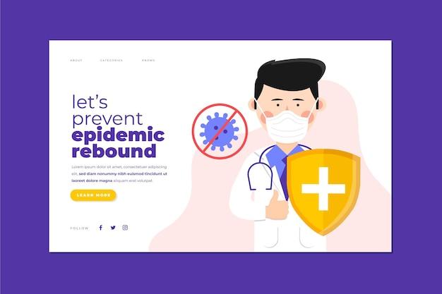Zapobiegaj stronie docelowej z odbiciem epidemii
