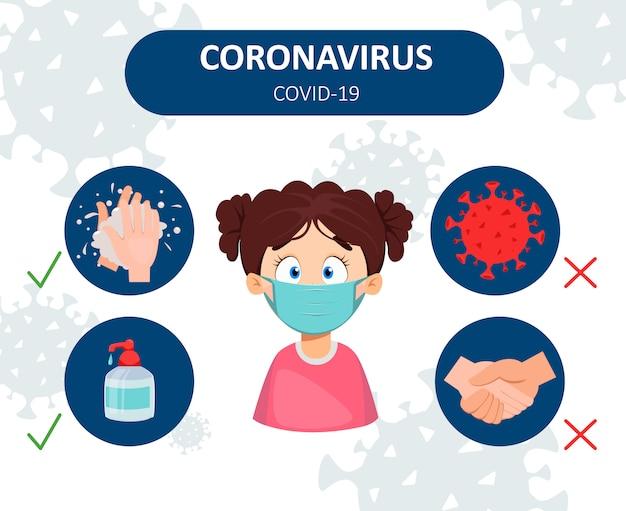 Zapobieganie koronawirusom. infografika