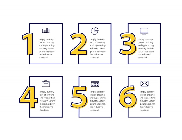 Zaprojektuj czysty szablon dla numerowanych banerów