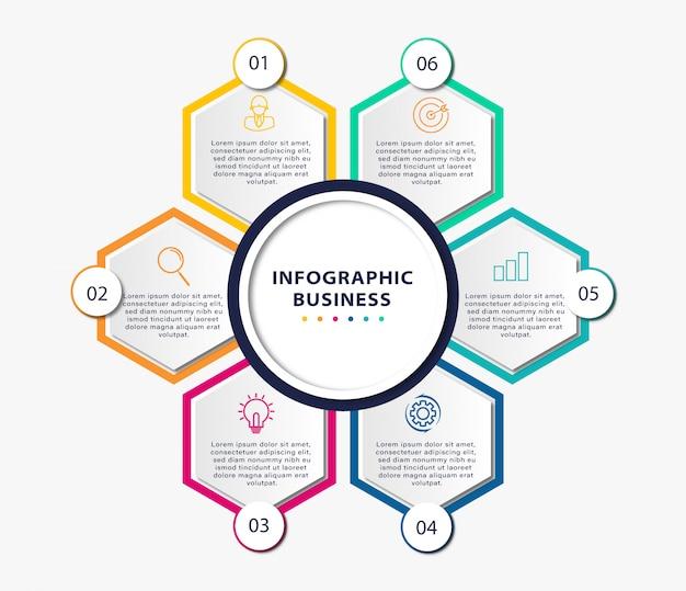 Zaprojektuj infografiki dla krok biznesu