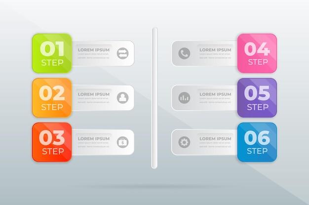 Zaprojektuj nowoczesną infografikę kroków profesjonalnych