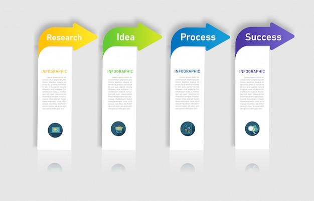 Zaprojektuj opcje szablonu biznes infographic element wykresu.