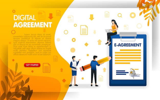 Zaprojektuj stronę docelową dla umów cyfrowych lub umów elektronicznych