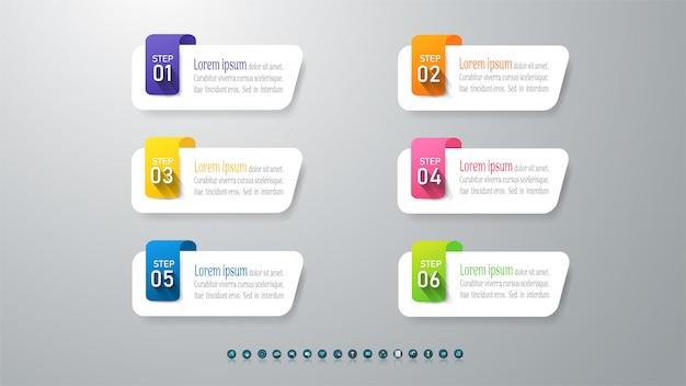 Zaprojektuj szablon biznes infographic element wykresu.