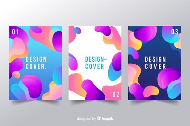 Zaprojektuj szablon okładki z kolorowym efektem płynnym