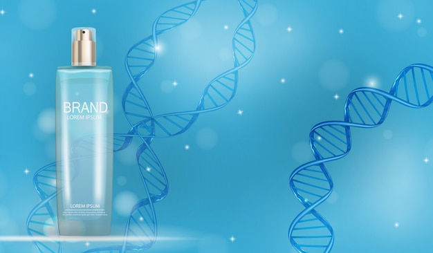 Zaprojektuj szablon produktu kosmetyków dla reklam