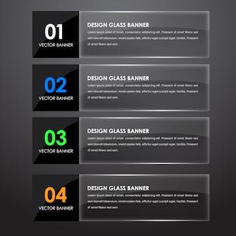 Zaprojektuj szklane banery z tekstem