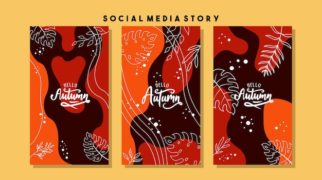 Zaprojektuj tła dla banerów społecznościowych zestaw szablonów ramek postów w mediach społecznościowych