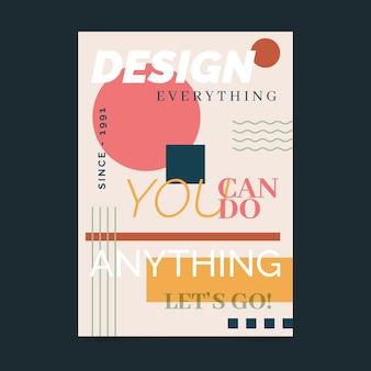 Zaprojektuj wszystko, co słynie plakat z cytatem