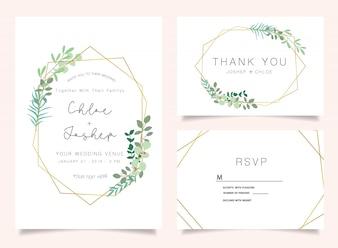 Zaproszenia ślubne zestaw