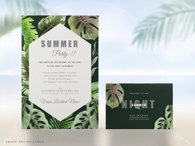 Zaproszenia na egzotyczne tropikalne lato