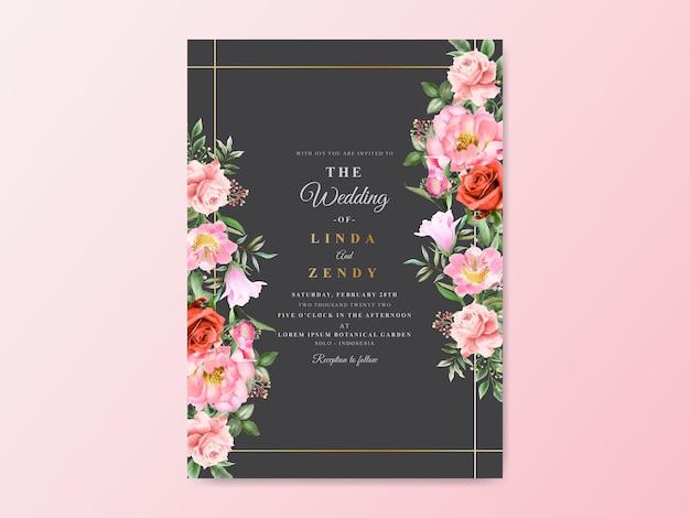 Zaproszenia ślubne kwiatowy ręcznie rysowane