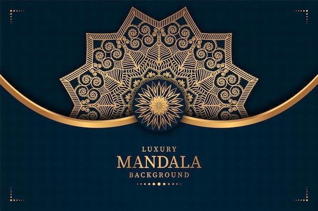Zaproszenia ślubne luksusowe tło mandali premium wektorów