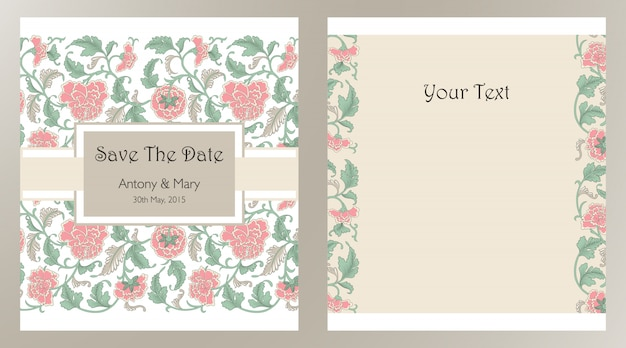 Zaproszenia ślubne z kwiatowymi elementami